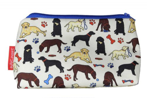 Selina-Jayne Labrador Dogs Limited Edition Designer Cosmetic Bag